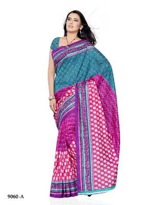 Beautiful Party Wear Saree made from Jacquard by Diva Fashion, Surat