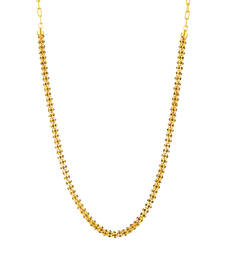 Buy Traditional Ethnic Yellow Crystal Beauty Gold Plated Chain with Crystal Stones Necklace online