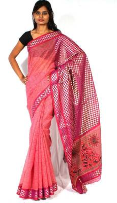 Designer supernet fancy pallu printed saree