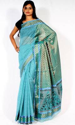 Designer supernet  fancy pallu Printed saree