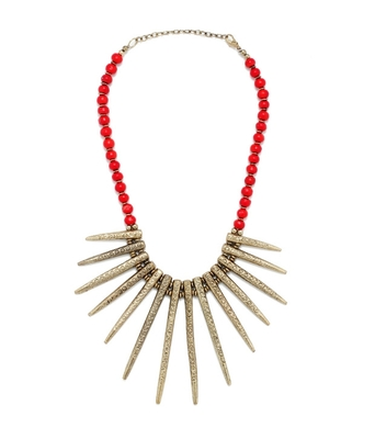 Spiky brown Necklace