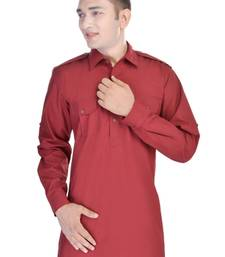 Buy Red Pathani Kurta gifts-for-boyfriend online
