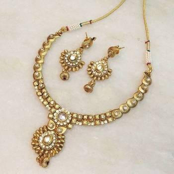 antique golden temple jewellery set