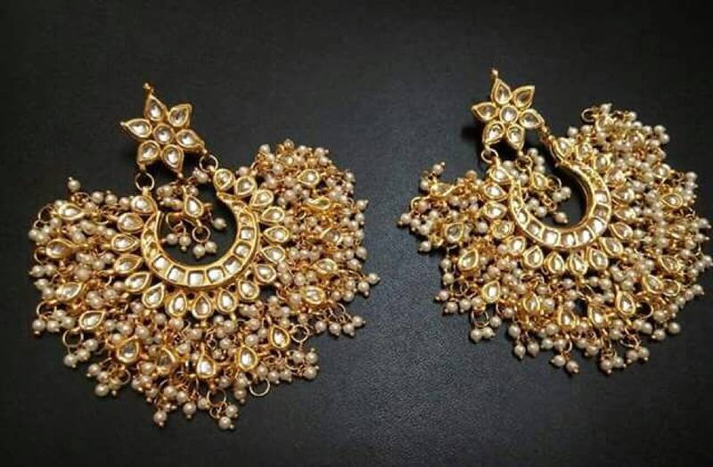 Buy White Pearl Earring In Kundan For Traditional Occasion