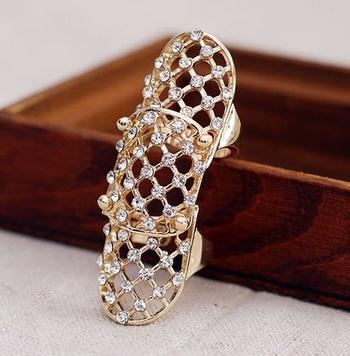 New high quality 18 K gold plated Rhinestone fashion woman ring