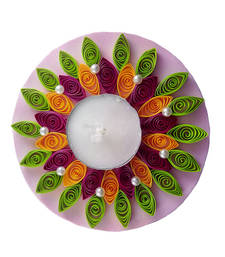 Hand Made Paper Quilling Floating Diwali Diya