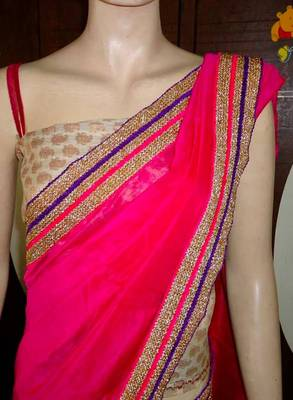 pretty pink saree