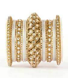 Buy Traditional solid colored kundan bangle set karva-chauth-jewellery online