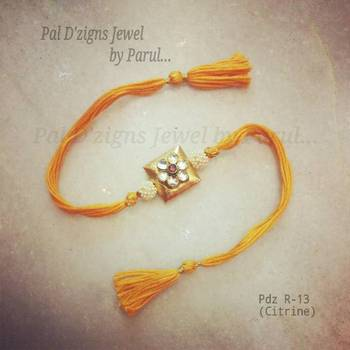 Buy Rakhi designs online Jewel Citrine - Pdz R-13