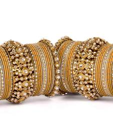 Beautiful golden dot pattern bangle set for two hands bangles-and-bracelet
