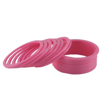 Extra Large Size Metal Bangle Color Pink