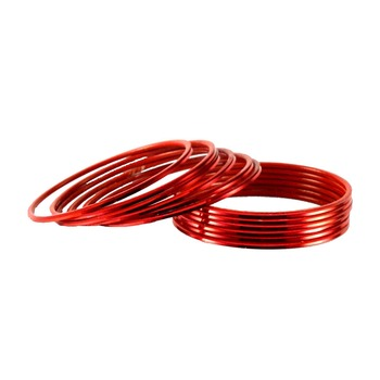 Extra Large size Metal Bangle Color Red