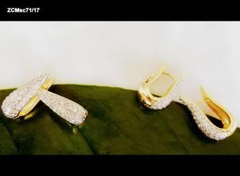 americian diamond earrings