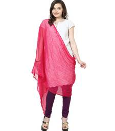 Buy Chiffon Dupatta Dark pink stole-and-dupatta online