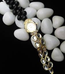 Buy black kundan beads watch watch online