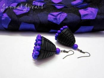 Black and Violet Jhumka