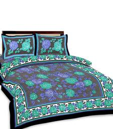 Buy Multi-Color Floral Printed Double Bedsheet n Pillow Covers 194 duvet-cover online