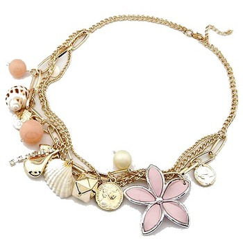 Ocean Shell and Flower Neckpiece