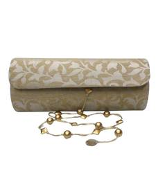 Buy Patrika or Kankotri (invitation card) shaped clutch (Gold 2) clutch online