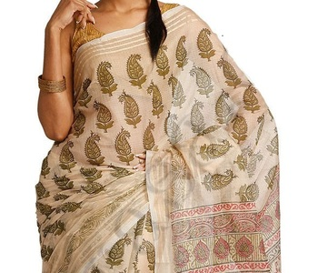 Kota silk fancy printed banarasi saree