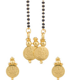Buy Single String Mangalsutra Set in Coin Shape mangalsutra online