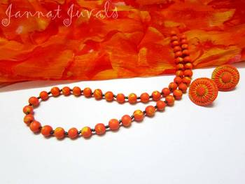Orange and Yellow Shaded neckset