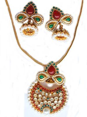 Maayra Ethnic Party Pendant Set