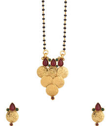 Buy Single Chain Gold Toned Mangalsutra With Wati Theme mangalsutra online