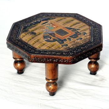Exclusive Mughal Painted Handcrafted Chowki_Wud0913