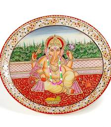 Buy Marvel In Marble - Hand Painted Lord Ganesh-018 ganesh-chaturthi-gift online