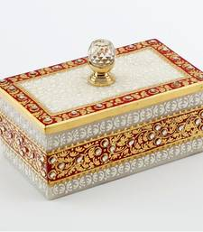 Buy Marvel In Marble - Gold Embossed Jewellery Box With Crystal Knob_55 other-home-accessory online