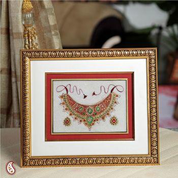 Hand Painted Kundan Work Hanging