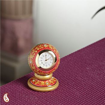Round Marble Painted Clock