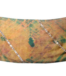 Buy Hand-made Amber Green and Dull Gold Coloured 100% Pure Pashmina Shawl shawl online
