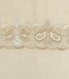 Buy Hand-made Antique White Coloured 100% Pure Pashmina Shawl shawl online