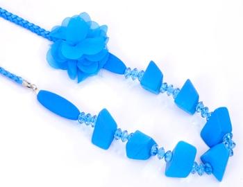 Blue Rose Fashion Necklace Set
