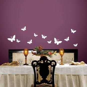 Butterfly abstract wall decal