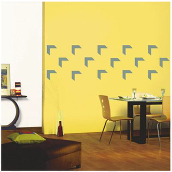 corner abstract wall decal