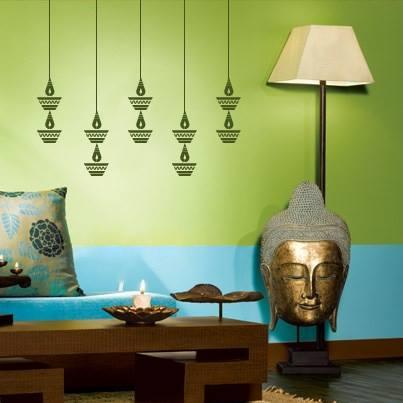 Buy Diwali Decoration Hanging Diwali Diya Abstract Wall