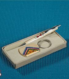 Wooden Pen And Key Chain Set