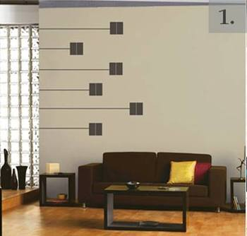 Square and Line abstract wall decal