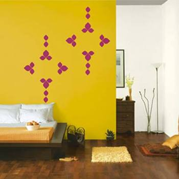 Trishaped modern abstract decal