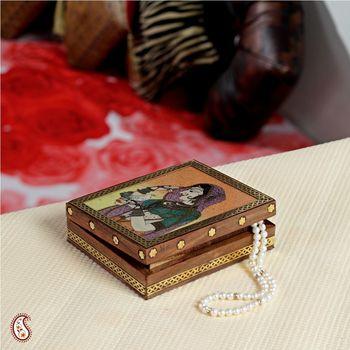 Elegantly framed Gemstone Jewel box