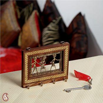 Tribal motif four Key hanger