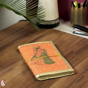 Radha Krishna Printed Hand Made Paper Diary