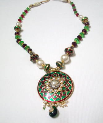 Modern Meenakari Necklace