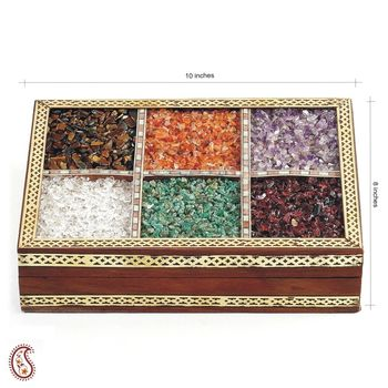 Jewellery Box Inlayed with Semi Precious Stone Work