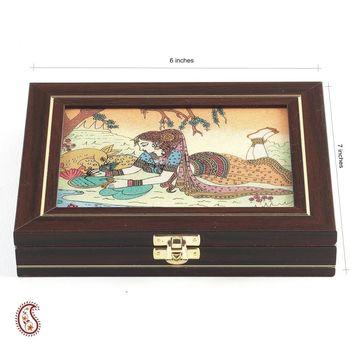 Wood and Precious Stone Inlay Work Gem Box