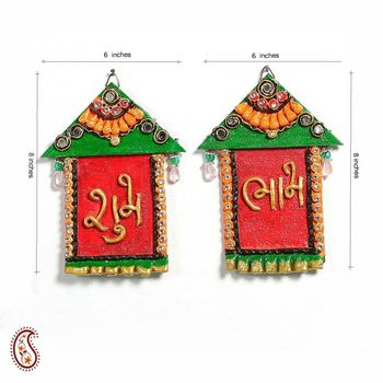 Diwali Decoration Ideas Hut Design Wall Art Hanging With Shubh And