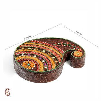 Brown Keri design storage box with clay work